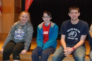 Caitlin Yannizzi, Keith Wiley, and Aiden Glennon