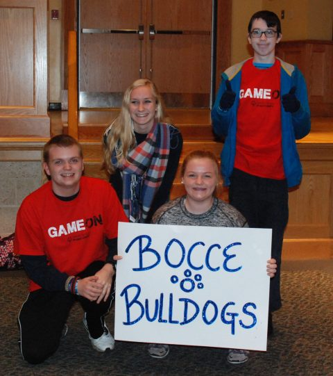 Team Bocce Bulldogs - Back Row: Julia DiCienzo & Keith Wiley Front Row: Michael Bodley & Caitlin Ionize