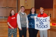 Team Bocce Rocks - Emily Hunt-Grandmont, Johnny Murray, Shannon Lindahl, and Nick Cara