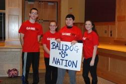Team Balldog Nation - Sam Collyer, Sydney McKenna, Alex Anzivino, and Noelle Atkins