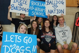 Student Government members cheer on RHS's bocce players