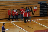 Some of RHS's bocce players on the sidelines