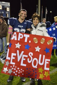 Kevin Levesque with his grandmother, Noreen.