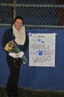 Makayla Wright was also honored for her devotion to the team!