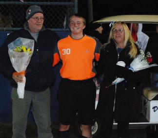 Mike Ahern with his mother, Cindy and his father, Gerry