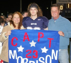 Jeremy Morrison with his parents, Susan and Robert
