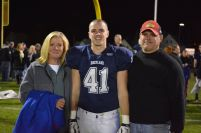 Ryan Shea with his parents, Maureen and James