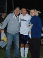 Ryan Sugrue with his mother Patty and his father Paul