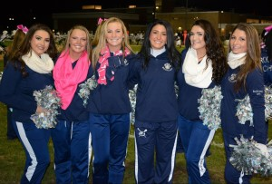 Senior Cheerleaders are Bella Rindone, Kylie Keefe, Sam Aylward, Carly Reardon and Kiera Tobin-Rosman.