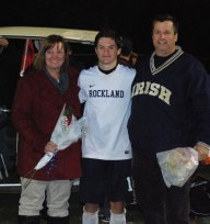 Shane Murray with his mother, Karen and father, Dennis