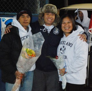 Johnny Nguyen with his mother, Ty and his father Lien Lam.