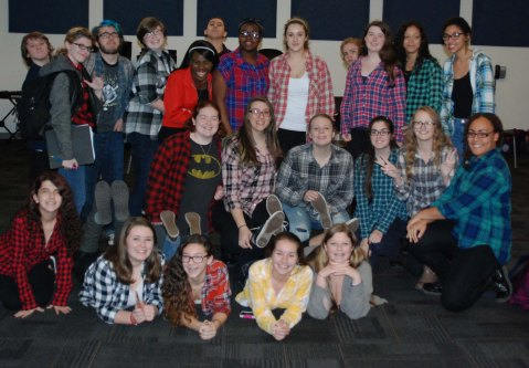 Flannel Day in the Band room!