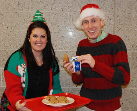 Teachers, Joanne White and Patrick Finn were selected as RHS' Mr. and Mrs. Claus.