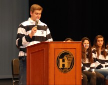 Hanover High School Student Council President Mike Meads