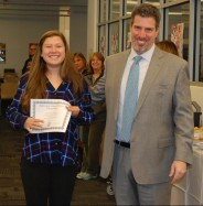 Lexie Carchedi and Principal of Rockland High School, Dr. Alan Cron