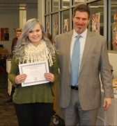 Meghan Foster and Principal of Rockland High School, Dr. Alan Cron