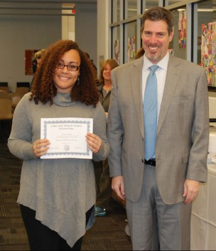 Lauren Illes and Principal of Rockland High School, Dr. Alan Cron