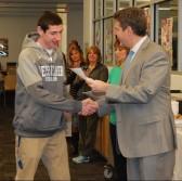 Matt Kirslis and Principal of Rockland High School, Dr. Alan Cron