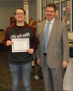 Zach Pransky and Principal of Rockland High School, Dr. Alan Cron