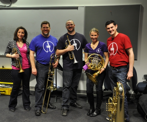alliance brass in lecture hall