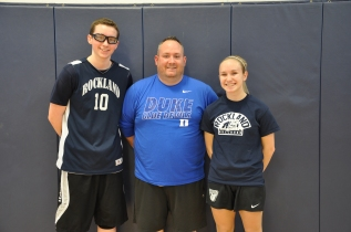 That's Bull Spit: Math teacher Nick Liquori and his teammates John Ellard and Julia DiCienzo.
