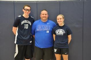 That's Bull Spit: Math teacher Nick Liquori and his teammates John Ellard and Julia DiCienzo.