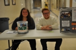 Shannon Lindahl and Shawn Ward at the desk; Shannon organized the tournament.