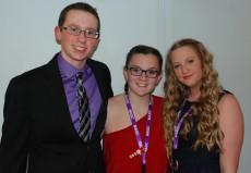 John Ellard, Sydney McKenna, and Jaymie Atkins