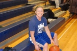 Diana Mitchell, girls varsity basketball coach, is ready to go.