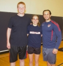 Ryan Leavitt, Emily Beatrice and middle school teacher, Ron Ricciarelli were the team called Hittin' That