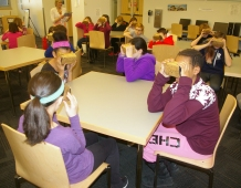Ms. Ouderkirk's class begins their Google Expedition photo by Hannah Boben