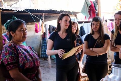 Julia Rayberg organizes volunteers in Guatemala. photo courtesy Julia Rayberg