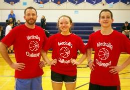 Social Studies teacher, Rich MacAllister, Hope Geary and Matty O'Brien were Veritcally Challenged