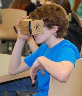 Ryan Struzziery, sophomore in Mr. MacAllister's class. photo by Haley Macray.
