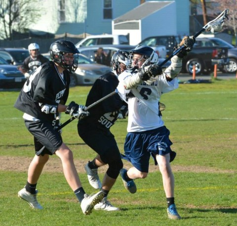 Matt O'Brien against Plymouth North last year photo by Rockland High School