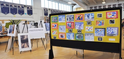 On display at the Arts Festival were paintings by members of the Pathways class and the PhotoVoice exhibit. Veritas Photo