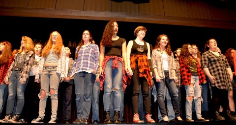Chorus introduces selections from Rent with Seasons of Love