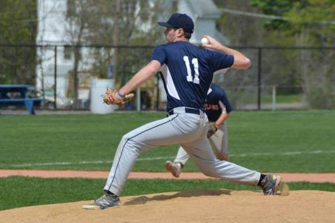Senior Harrison Shields will be one of several pitchers that Coach Liquori will call on this year.  Rockland High Sports Photo