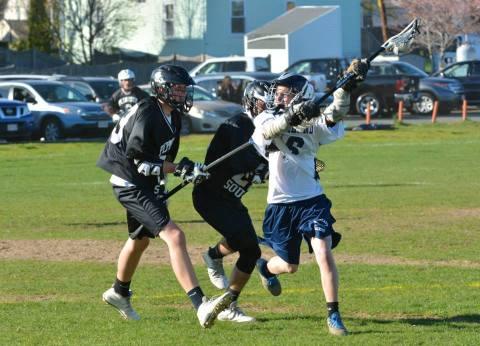 Junior Matt O'Brien last year against Ply. No.  Rockland High Sports photo