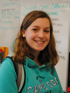Sarah Margolis has put time and effort into the Class of 2016 yearbook. photo courtesy Mrs. Thompson