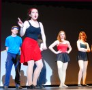 Sophie McLellan in front as Val, Ryan Struzziery, Leah DeCecco and Jurnee Dunn.