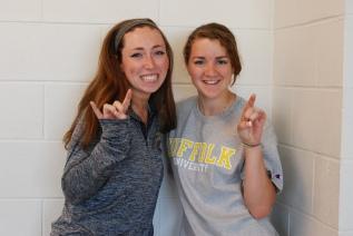 Ashley Pezzella & Kylie McKenna will both attend Suffolk University