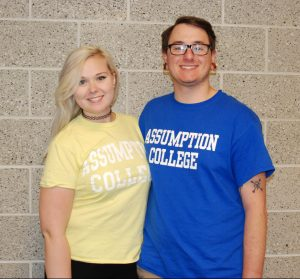 Meghan Foster and Zach Pransky will both attend Assumption College next year.