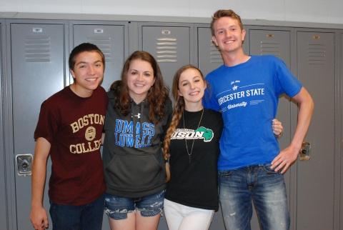 Ryan Sugrue (Boston College), Kate Dorney (UMass Lowell), Jenna O'Connor (Nichols College), & Jared Ochenduszco (Worchester State)