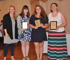 Art Awards: Ms. Thompson, Elizabeth Kelley, Hannah Millen, Jillian Scholfield