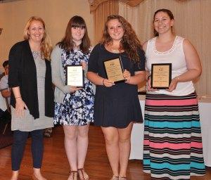 Art Awards: Ms. Thompson, Elizabeth Kelley, Hannah Millen, Jillian Scholfield
