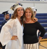 Ashley Pezzella and her mother before graduation