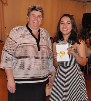 Luana Lima won St. Michael's College Book Award for and outstanding high school junior.