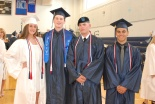 Taylor Schell, Ryan Hooper, Brian McDonald and Gustavo Ribeiro are entering the military upon graduation.