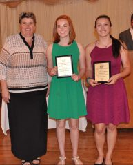 Jasmin Morse and Isabel Pica, Family/Consumer Science award winners